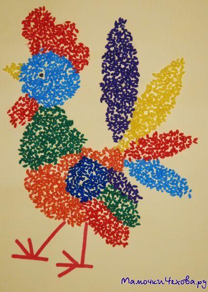 Картины из цветного риса