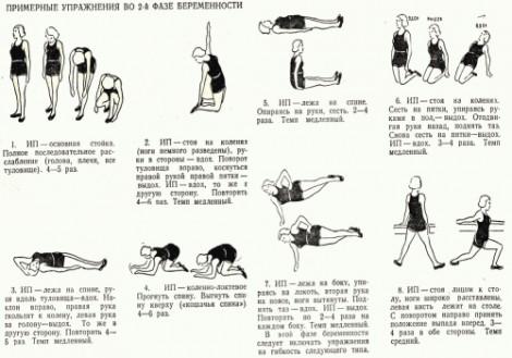 Гимнастические упражнения для беременных