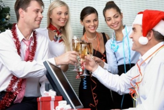 Празднование нового года в коллективе