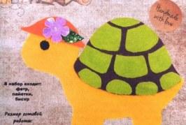 Мастер-класс по изготовлению Черепахи из фетра
